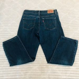 Levi's Hi Rise Skinny Dark Rinse Ankle Crop Jeans